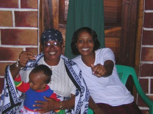 Mama Helen with her daughter Rogathe and grandaughter Shirley