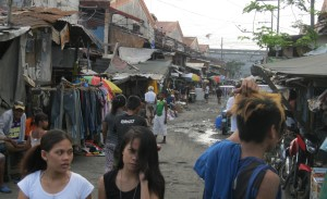 A view of the Temporary Housing area in Tondo, Manila