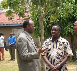 Partners in Tanzania Eliudi Issangya and Eric Mukwenda